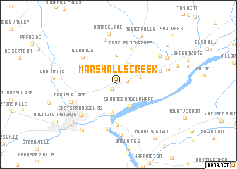 map of Marshalls Creek