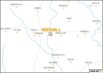 map of Marshall