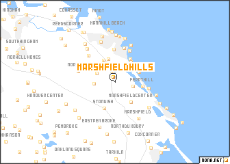 map of Marshfield Hills