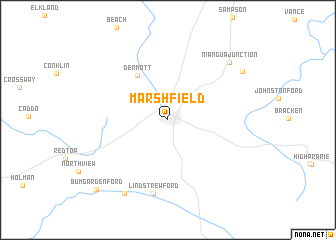map of Marshfield