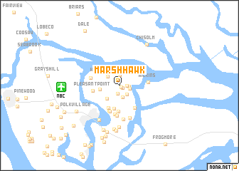 map of Marsh Hawk