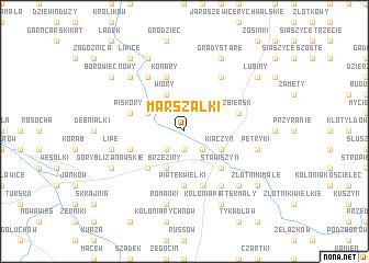 map of Marszałki