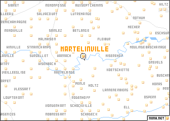 map of Martelinville