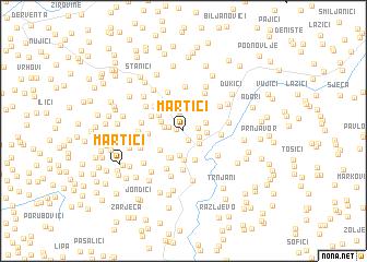 map of Martići