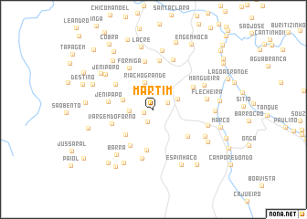 map of Martim