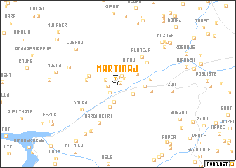 map of Martinaj