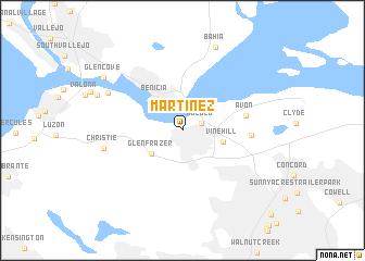 map of Martinez