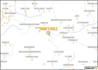 map of Martínez