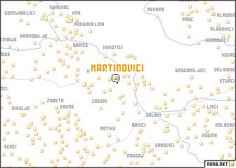 map of Martinovići