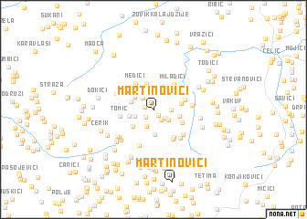 map of Martinovići