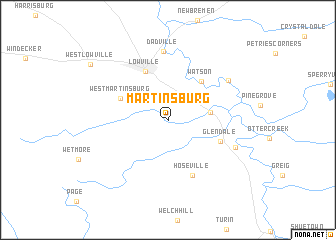 map of Martinsburg