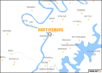 map of Martinsburg