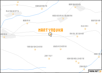 map of Martynovka