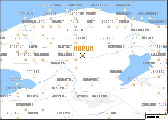 map of Mårum