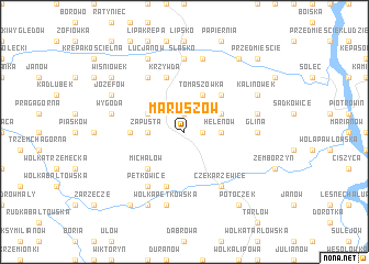 map of Maruszów