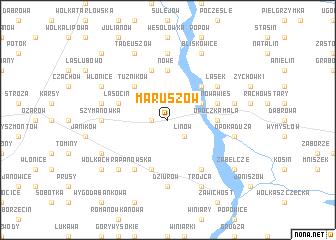 map of Maruszów