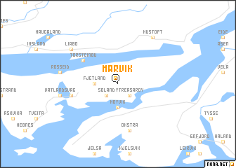 map of Marvik