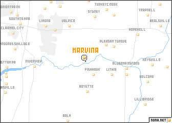 map of Marvina