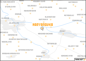 map of Mar'yanovka