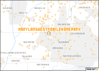 map of Maryland West Mobile Home Park