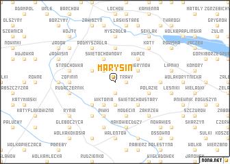 map of Marysin