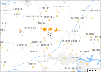 map of Maryville