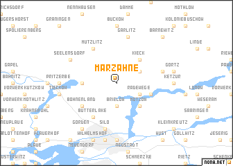 map of Marzahne