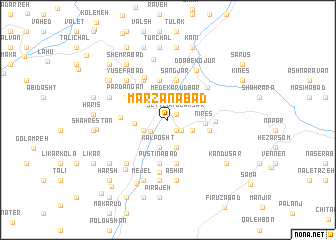 map of Marzanābād