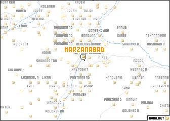 map of Marzanābād