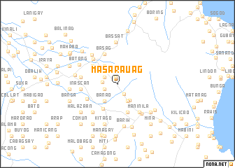 map of Masarauag