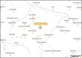 Mashhad Iran map nonanet