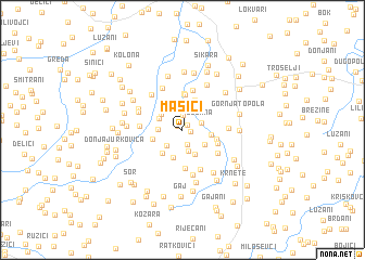 map of Mašići