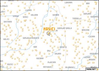 map of Mašići