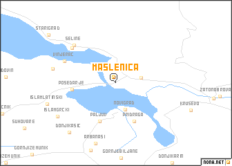 map of Maslenica
