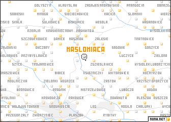 map of Masłomiąca