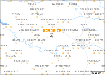map of Mašovice