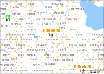 map of Masseau