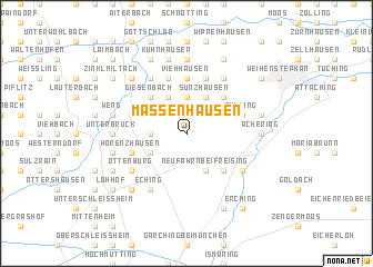 map of Massenhausen