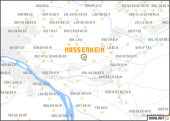 map of Massenheim