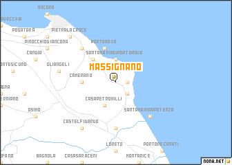 map of Massignano
