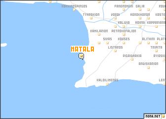 map of Mátala