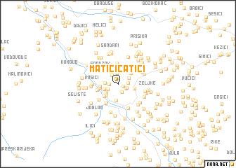 map of Matići-Ćatići