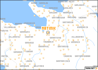 map of Matinik