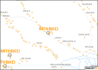 map of Matkovići