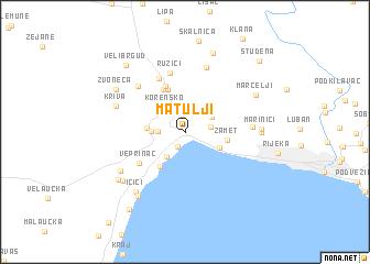 map of Matulji