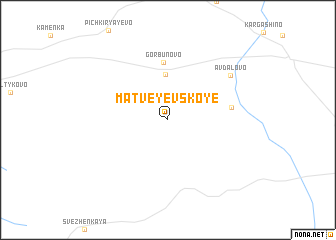map of Matveyevskoye