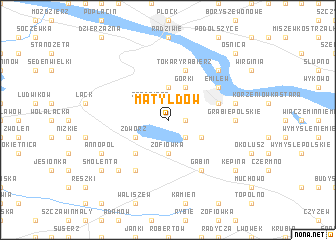 map of Matyldów