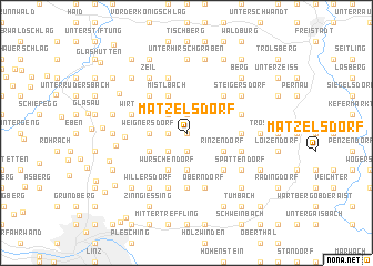 map of Matzelsdorf