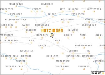 map of Matzingen