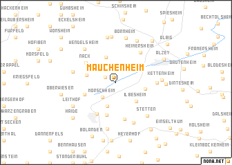 map of Mauchenheim